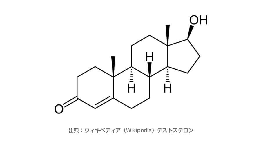 テストステロンの化学式